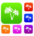 two palms set collection vector image
