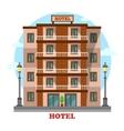 Hotel or motelskyscraper hostel building exterior vector image