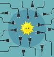 alternative energy flat design concept vector image