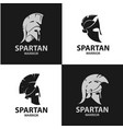 greek and roman warriors helmets vector image