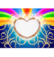 Glossy heart marquee with colorful stars vector image vector image