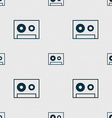 cassette sign icon Audiocassette symbol Seamless vector image