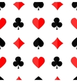 Seamless poker background with suits3 vector image