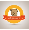 bread bakery restaurant icon vector image