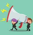 Business Man Carry Megaphone Advertisement vector image