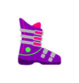 flat style skiing snowboarding boot side view vector image