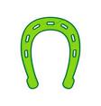 horseshoe sign   lemon vector image