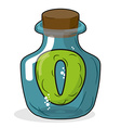 O in bottle for scientific research letter in a vector image