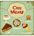 Vintage Cafe Menu vector image