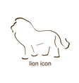 Lion icon on white background vector image