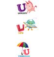 alphabet letter - U vector image