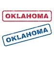 Oklahoma Rubber Stamps vector image