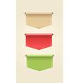 Set of Web Ribbons vector image