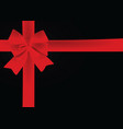 red bow on black background vector image