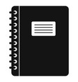 spiral notepad icon simple vector image