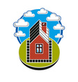 Simple house countryside idea Abstract ima vector image