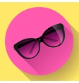 Fashionable trendy woman sunglasses on a colorful vector image