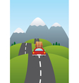 car on the road vector image vector image