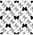 Seamless pattern of graphic butterflies vector image vector image