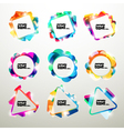 Neon frame collection vector image vector image