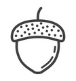 acorn line icon nut and food graphics vector image