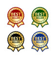 award ribbon the best seller vector image