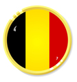 button with flag Belgium vector image