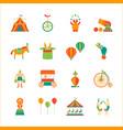 cartoon circus color icons set vector image