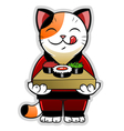 Cat with sushi vector image