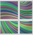 Colorful curved digital art page background set vector image
