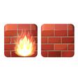 Firewall vector image