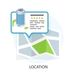 Location Icon Locating Your Business vector image