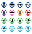 offroad event and camping icons set vector image