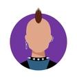 Punk Male avatar vector image