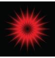red light burst vector image