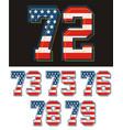 set america flag number vector image