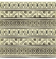 vintage ethnic hand-drawn seamless pattern vector image