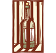 Wine Bottle 1 vector image