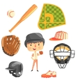 Boy Baseball PlayerKids Future Dream Professional vector image