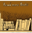 Sketch background with a book shelf vector image