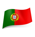 State flag of Portugal vector image vector image