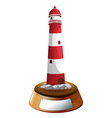 A tower decor with an empty label vector image vector image