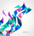 Abstract Triangle Geometric colorful wave vector image