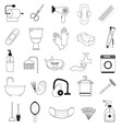Hygiene And Bathroom Icons Set vector image