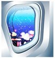 plane window vector image