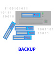 backup vector image vector image