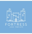 Abstract Fortress Line Style Logo Template vector image