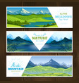 alpine meadows banners set vector image