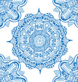 Blue Mandala Patterned Background vector image