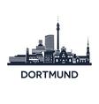 Dortmund Skyline Emblem vector image
